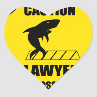 Pegatina En Forma De Corazón Travesía del abogado con el tiburón