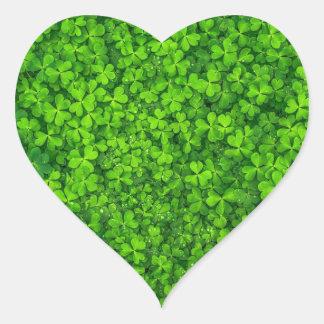 Pegatina En Forma De Corazón Trébol del día de St Patrick