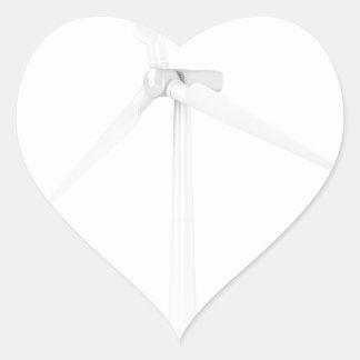Pegatina En Forma De Corazón Turbina de viento moderna