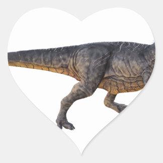 Pegatina En Forma De Corazón Tyrannosaurus-Rex con el colorante amarillo