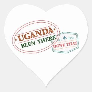 Pegatina En Forma De Corazón Uganda allí hecho eso