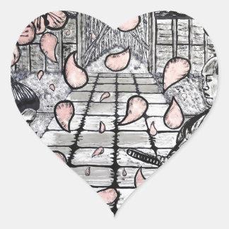 Pegatina En Forma De Corazón Un drenaje por Carretero L. Shepard