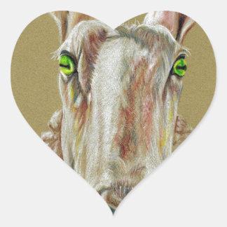 Pegatina En Forma De Corazón Un retrato de una oveja