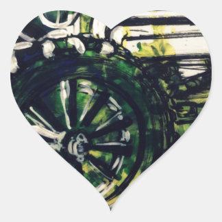 Pegatina En Forma De Corazón ¡Un tractor!
