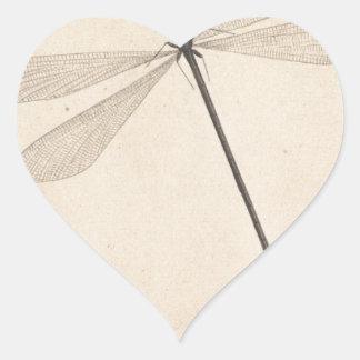 Pegatina En Forma De Corazón Una libélula, por Nicolás Struyk, temprano décimo