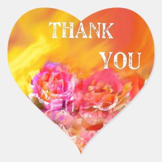 Pegatina En Forma De Corazón Una mano de gracias tiende por completo hacia