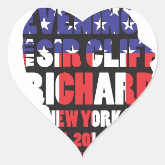 Pegatina En Forma De Corazón Una tarde con sir Cliff Richard