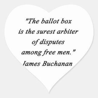 Pegatina En Forma De Corazón Urna - James Buchanan