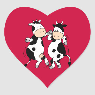 Pegatina En Forma De Corazón Vacas del baile (mooviestars)