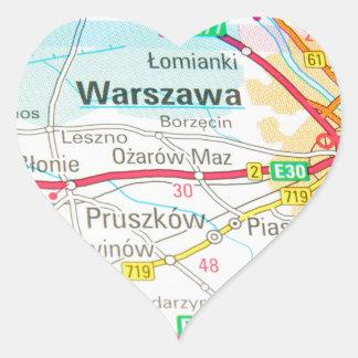 Pegatina En Forma De Corazón Varsovia, Varsovia en Polonia