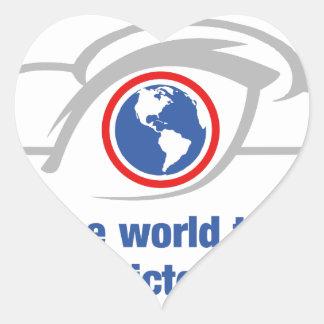 Pegatina En Forma De Corazón Veo el mundo a través de ojos sin restricción