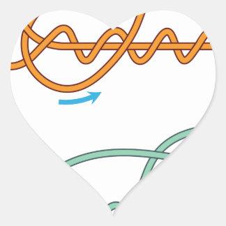 Pegatina En Forma De Corazón Versión bicolor mejorada del diagrama del nudo del