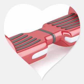 Pegatina En Forma De Corazón Vespa de uno mismo-equilibrio roja