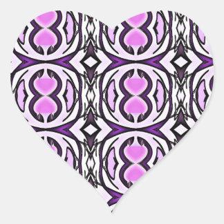 Pegatina En Forma De Corazón Violeta Purply