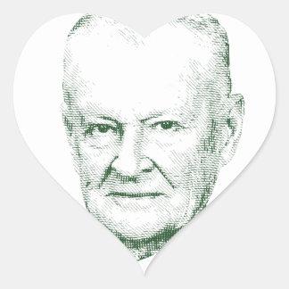 Pegatina En Forma De Corazón Zbigniew Brzezinski en dios que confiamos en