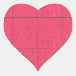 Pegatina En Forma De Corazón Zigzag rosado de los elementos del diseño