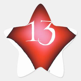 Pegatina En Forma De Estrella 13 de diamantes