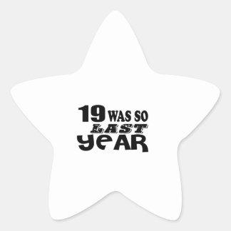 Pegatina En Forma De Estrella 19 estaban tan así que el año pasado los diseños
