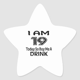 Pegatina En Forma De Estrella 19 hoy tan cómpreme una bebida