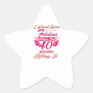 Pegatina En Forma De Estrella 65.a camiseta linda del regalo de la fiesta de