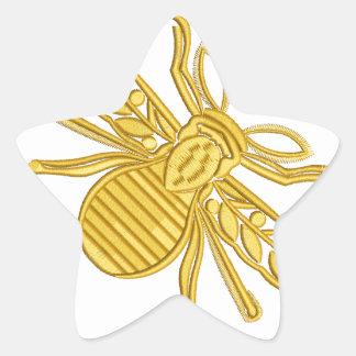 Pegatina En Forma De Estrella abeja real, imitación del bordado