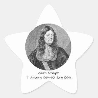 Pegatina En Forma De Estrella Adán Krieger