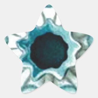 Pegatina En Forma De Estrella agujero y ojos azules