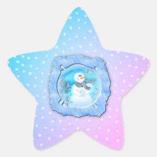 Pegatina En Forma De Estrella Alguien le ama muñeco de nieve emocional