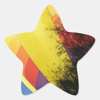 Pegatina En Forma De Estrella Amarillo con cresta