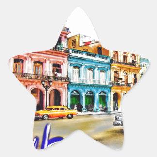 Pegatina En Forma De Estrella Amo Cuba