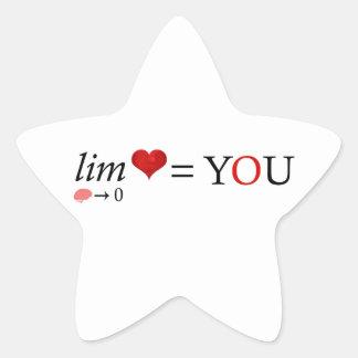 Pegatina En Forma De Estrella Amor de la matemáticas