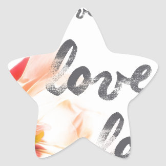 Pegatina En Forma De Estrella Amor del amor del amor
