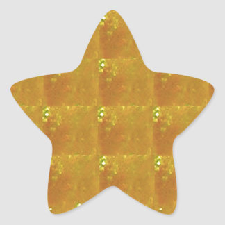 Pegatina En Forma De Estrella Ampliación de oro HealingSTONE del CRISTAL 2000X