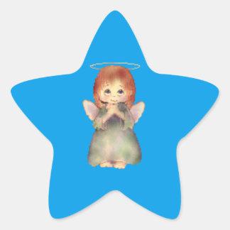 Pegatina En Forma De Estrella Ángel
