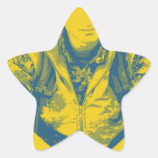 Pegatina En Forma De Estrella Arte 4 del soldado 3 de YPG
