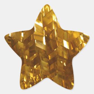 Pegatina En Forma De Estrella Arte abstracto del techo del oro