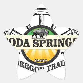 Pegatina En Forma De Estrella arte del rastro de Soda Springs Oregon