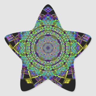 Pegatina En Forma De Estrella Arte reciclado del humo (6)