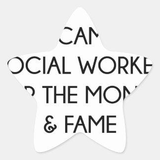 Pegatina En Forma De Estrella Asistente social