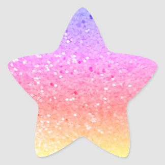 Pegatina En Forma De Estrella Asteroide: Pegatinas del brillo del arco iris