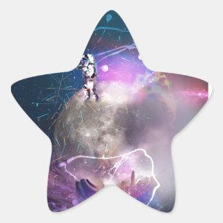 Pegatina En Forma De Estrella Astronauta que monta Nova estupendo