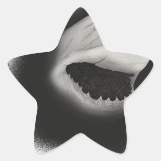 Pegatina En Forma De Estrella Ataque entintado del tiburón