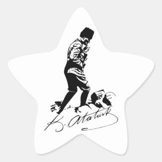 Pegatina En Forma De Estrella Ataturk
