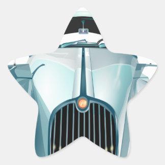 Pegatina En Forma De Estrella automóvil del vintage del coche del oldtimer