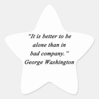 Pegatina En Forma De Estrella Bad Company - George Washington