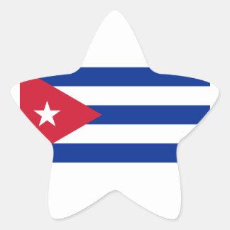 Pegatina En Forma De Estrella ¡Bajo costo! Bandera de Cuba