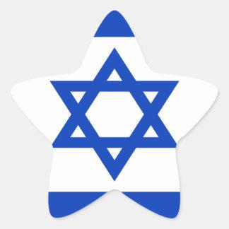 Pegatina En Forma De Estrella ¡Bajo costo! Bandera de Israel