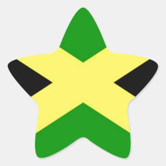 Pegatina En Forma De Estrella ¡Bajo costo! Bandera de Jamaica