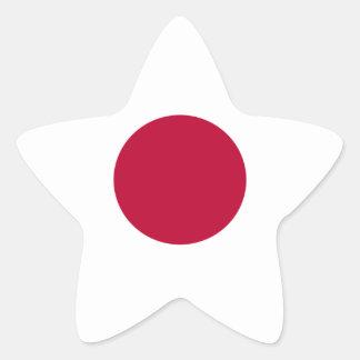 Pegatina En Forma De Estrella ¡Bajo costo! Bandera de Japón