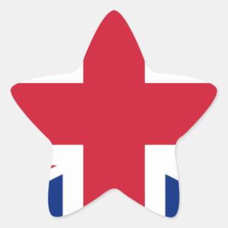 """Pegatina En Forma De Estrella Bandera BRITÁNICA """"Union Jack """" de Reino Unido del"""